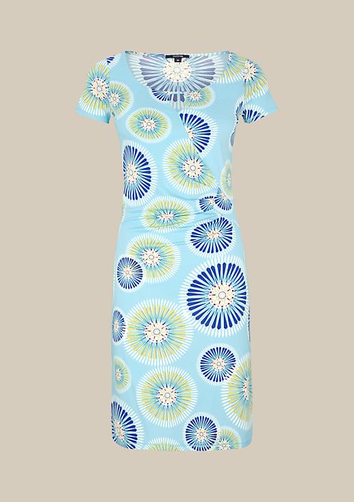 Leichtes Jerseykleid mit dekorativem Alloverprint
