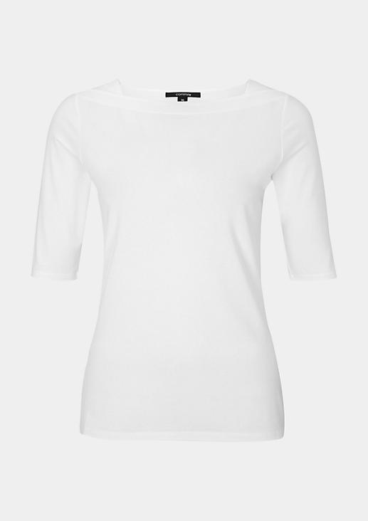 Leichtes Jerseyshirt mit kurzen Ärmeln