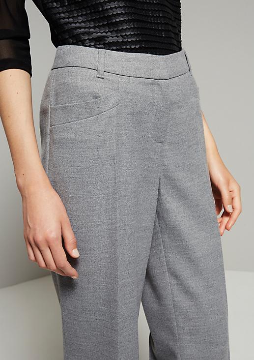 Schöne Flanellhose mit geradem Schnitt