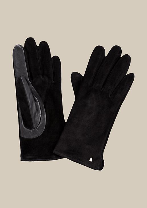Schöne Handschuhe aus weichem Wildleder
