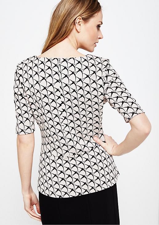 Schönes 1/2-Arm Shirt mit feinem Allovermuster