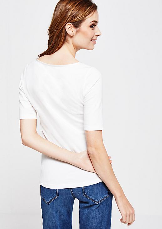 Schönes Kurzarm Jerseyshirt mit raffinierten Details