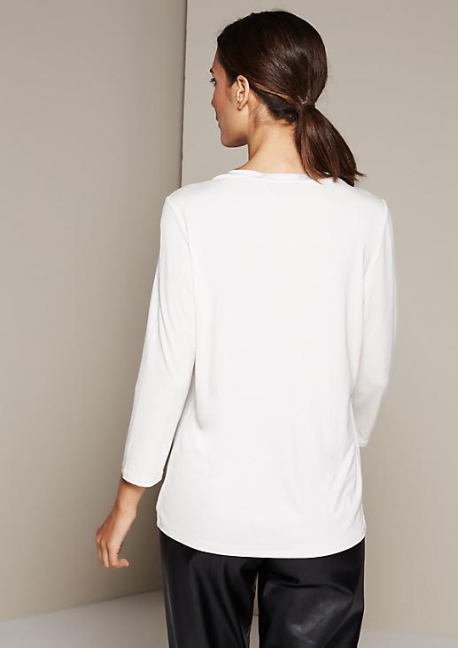 Smartes 3/4-Arm Shirt im Materialmix