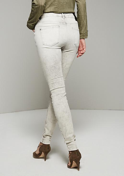 Sommerliche 5-Pocket Jeans mit extravaganter Enzym-Waschung