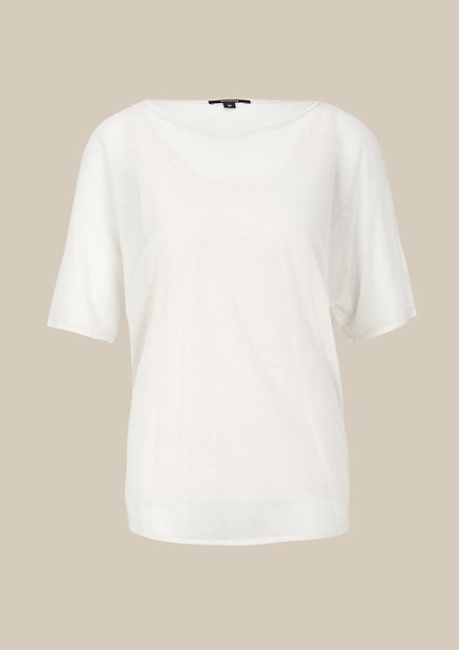 Transparentes Kurzarmshirt mit tollen Detailarbeiten
