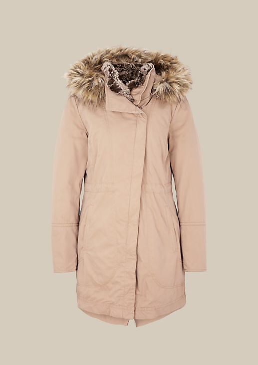 Warmer Winterparka mit abnehmbarer Kapuze