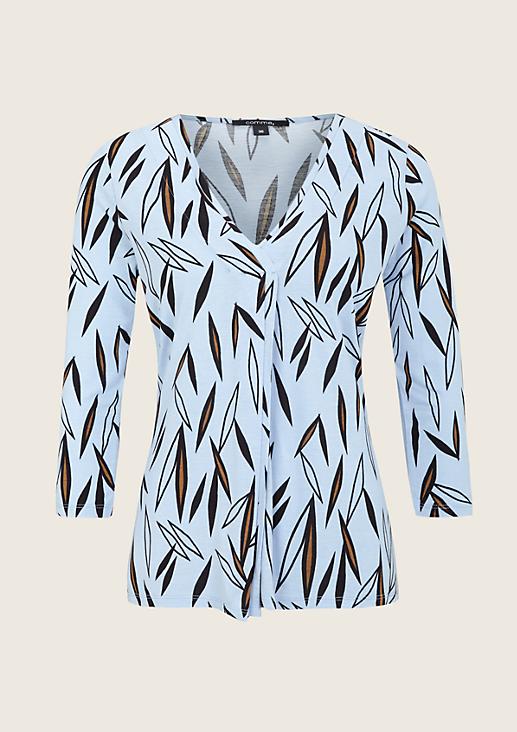 Weiches 3/4-Arm Shirt mit aufregendem Allover-Muster