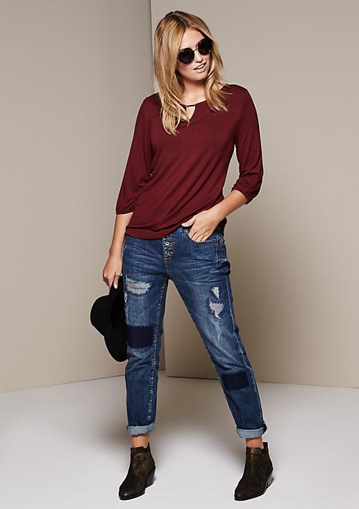 Weiches Jerseyshirt mit 3/4-Ärmeln
