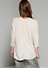 3/4-Arm Shirt mit feinen Fake-Leder Elementen
