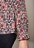 Aufregende Langarm-Chiffonbluse mit tollem Alloverprint