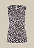 Dezent glänzendes Satintop mit dekorativem Fältchenwurf