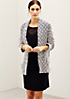 Edle Strickjacke mit tollem Two-Tone Muster