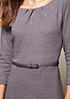 Edles 3/4-Arm Kleid mit dekorativem Muster