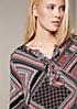 Elegante Langarmbluse mit liebevoll gestaltetem Muster