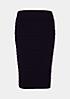 Eleganter Feinstrickrock mit Ton-in-Ton Streifenmuster