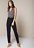 Eleganter Jersey-Jumpsuit mit feinem Printdessin