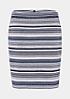 Eleganter Kurzrock mit feinem Streifenmuster