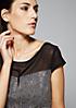 Elegantes Kurzarmshirt mit dekorativem Alloverprint