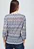 Extravaganter 3/4-Arm Pullover in farbenfroher Häkeloptik