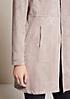 Extravaganter Mantel aus weichem Velour