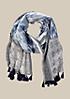 Extravaganter Schal mit Quastenbesatz