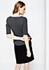 Extravagantes 1/2-Arm Shirt mit raffiniertem Minimalmuster