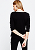 Extravagantes 3/4-Arm Shirt mit Spitzenbesatz aus Fake-Leder