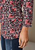 Feines 3/4-Arm Longshirt mit farbenfrohem Alloverprint