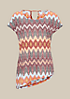 Feminines Kurzarmshirt mit aufregendem Alloverprint