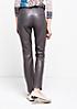 Glamouröse Fake-Leder Pants mit aufregenden Detailarbeiten