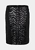 Glamouröser Kurzrock mit glitzernden Paillettenverzierungen