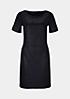 Glamouröses Abendkleid aus weichem Fake-Leder