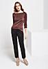 Glamouröses Langarmshirt aus glitzernden Effektgarnen