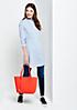 Große Shoppingbag aus Fake-Leder mit tollen Details