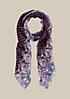 Hauchzarter Schal mit farbenfrohem Muster