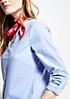 Klassische Bluse in feiner Streifenoptik