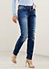 Klassische Jeans in Used-Optik