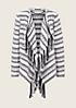 Kuschelige Jacke mit verspieltem Fransenbesatz