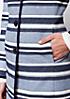Langer Mantel mit schönem Streifenmuster