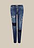Legere Boyfriend-Jeans im aufregenden Used-Look