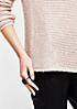 Legerer Strickpullover mit glitzerndem Paillettenbesatz