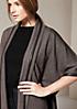 Raffinierter Poncho im Tweed-Look