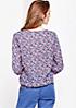 Schöne 3/4-Arm Bluse mit verspieltem Alloverprint