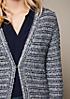 Schöne Strickjacke mit raffiniert gestaltetem Streifenmuster
