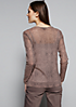 Semitransparentes Mesh-Longsleeve mit raffiniert gestaltetem Muster