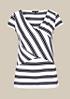 Sommerliches Kurzarmshirt im Two-Tone Streifenlook