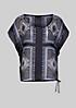 Zarte Chiffonbluse mit dekorativem Muster