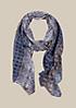 Zarter Schal mit liebevoll gestaltetem Allovermuster