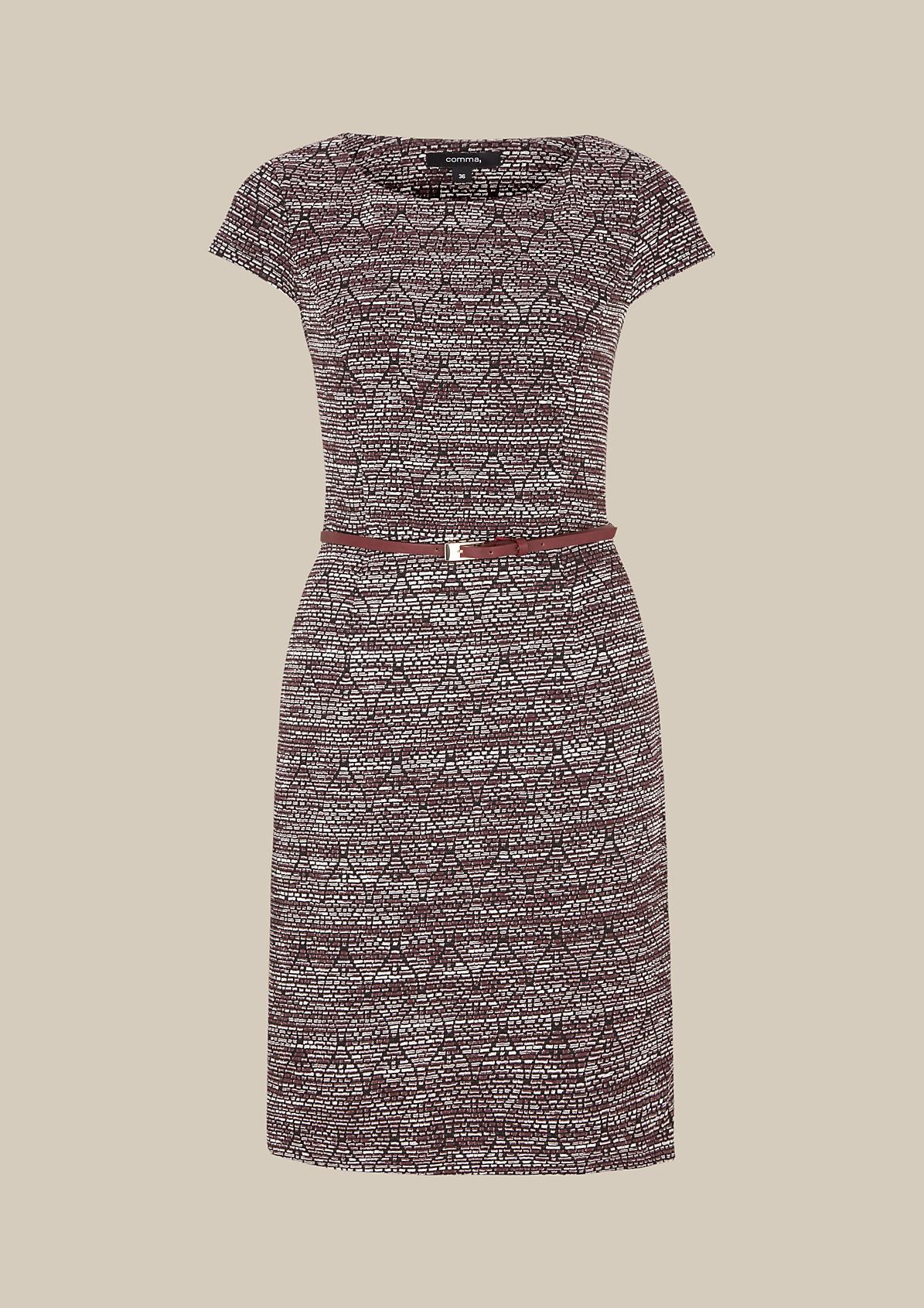 Edles Kleid mit aufregendem Jacquardmuster