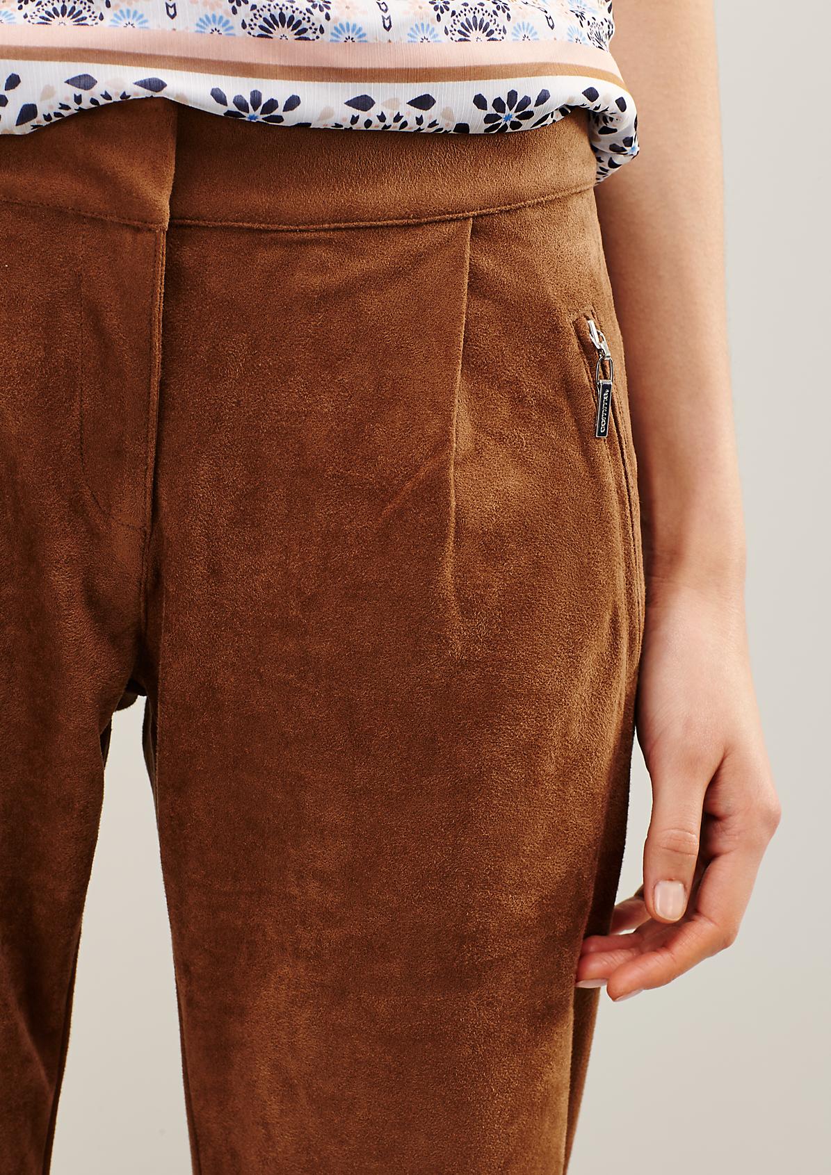 Elegante Pants aus weichem Fake-Suede